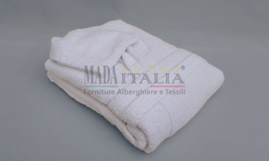 Vendita Accappatoio Spugna Bianco Con Cappuccio Adriatico