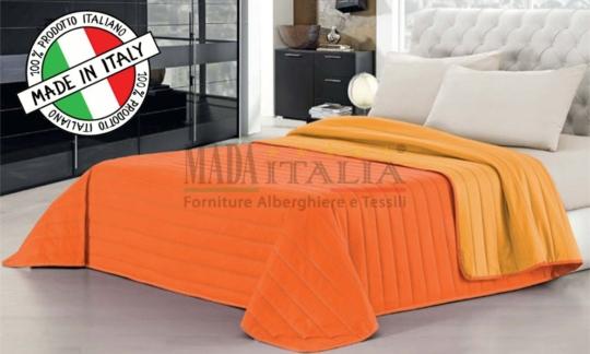 Copriletto Trapuntato Arancio/Giallo Mada Italia