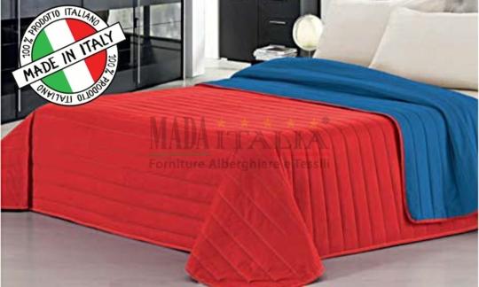 Copriletto Trapuntato Royal/Rosso Mada Italia