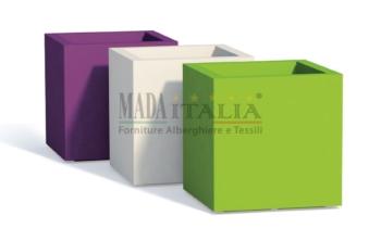 Vendita vasi colorati cubo esterno interno