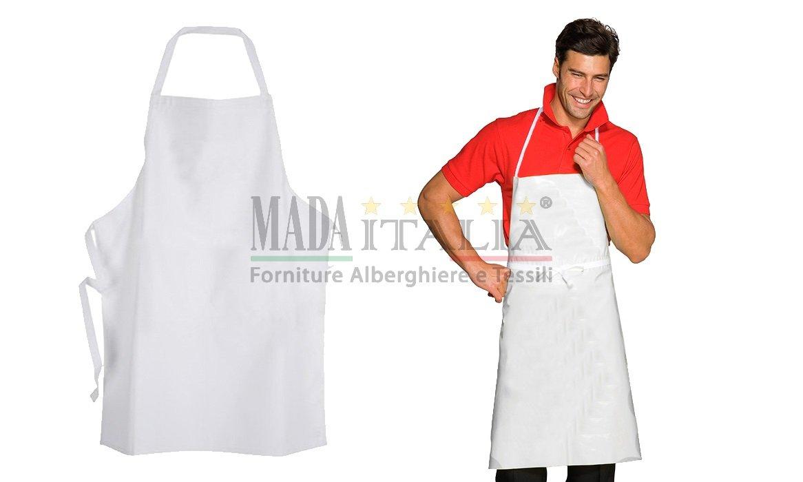 Grembiuli da cucina bianco con pettorina - Grembiuli da cucina ...