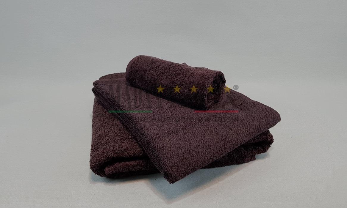 Vendita asciugamani spugna bagno color testa di moro - Asciugamani bagno offerte ...