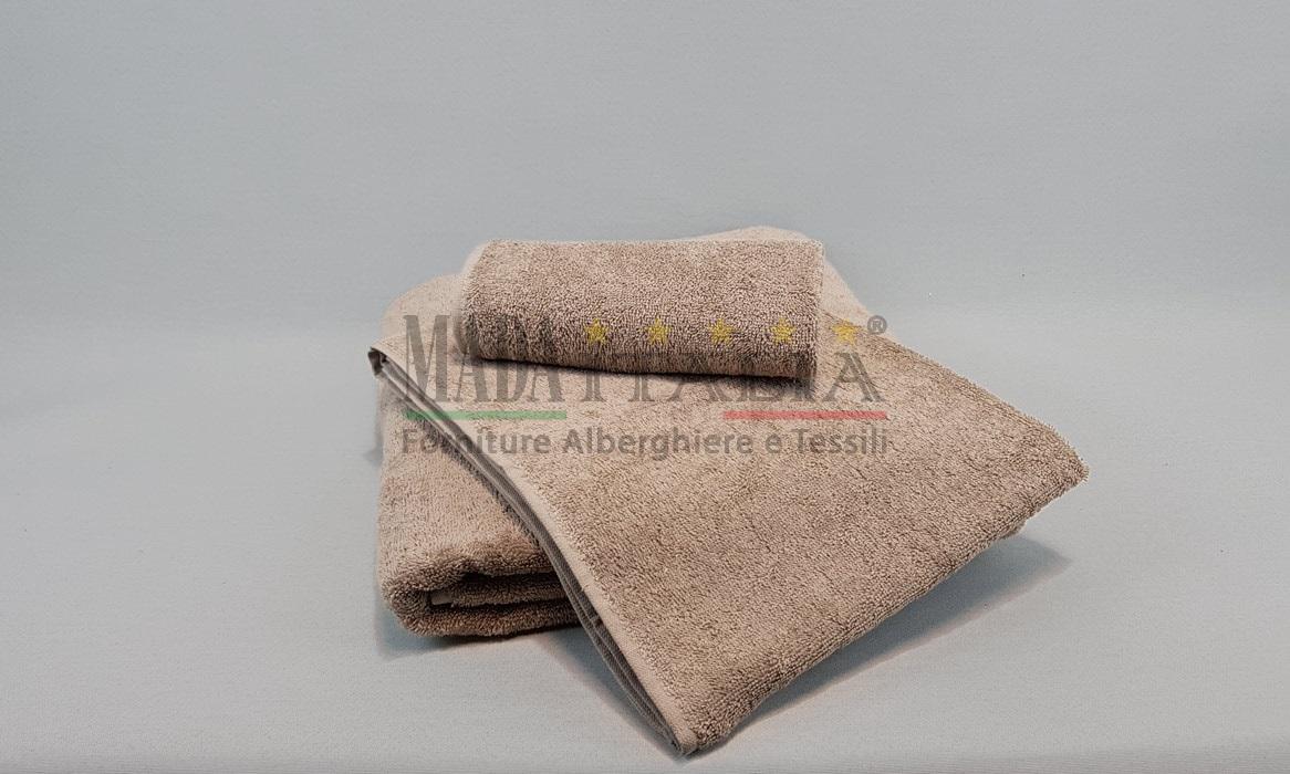 Vendita asciugamani spugna bagno color tortora - Spugna per pulire bagno ...