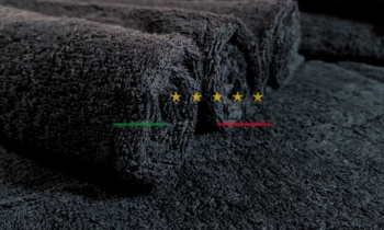 Asciugamani Spugna Italia Nero 450gr/mq