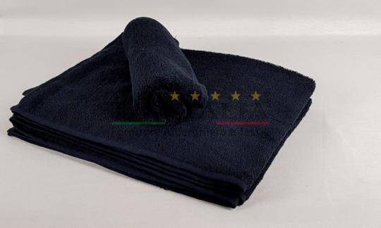 Vendita Asciugamano Ospite Spugna Nero Centri Estetici Massaggi Benessere