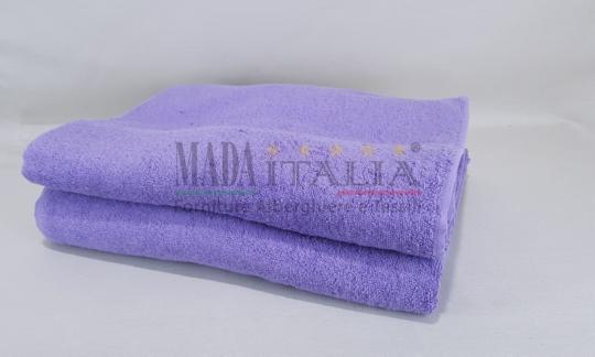 Vendita Asciugamano Telo Maxi Spugna 100x200 cm Lilla 450 grammi