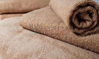 Asciugamani Spugna Cammello 450gr/mq