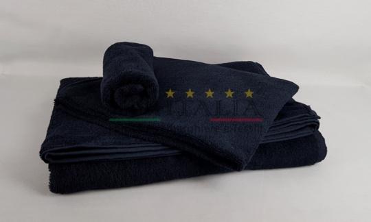 Vendita Set Asciugamani Spugna Nero 450 grammi Centri Benessere