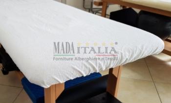 Vendita Coprilettino Massaggi Spugna Elastici Bianco