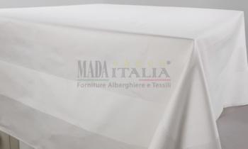 Vendita Tovaglia Cotone Bianco Fascia Raso
