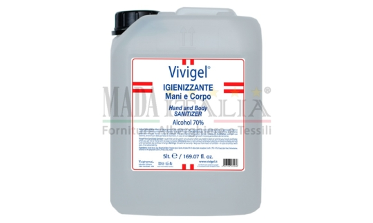 Vendita Gel Igienizzante Pulizia Mani Corpo Vivigel Tanica 5 Litri