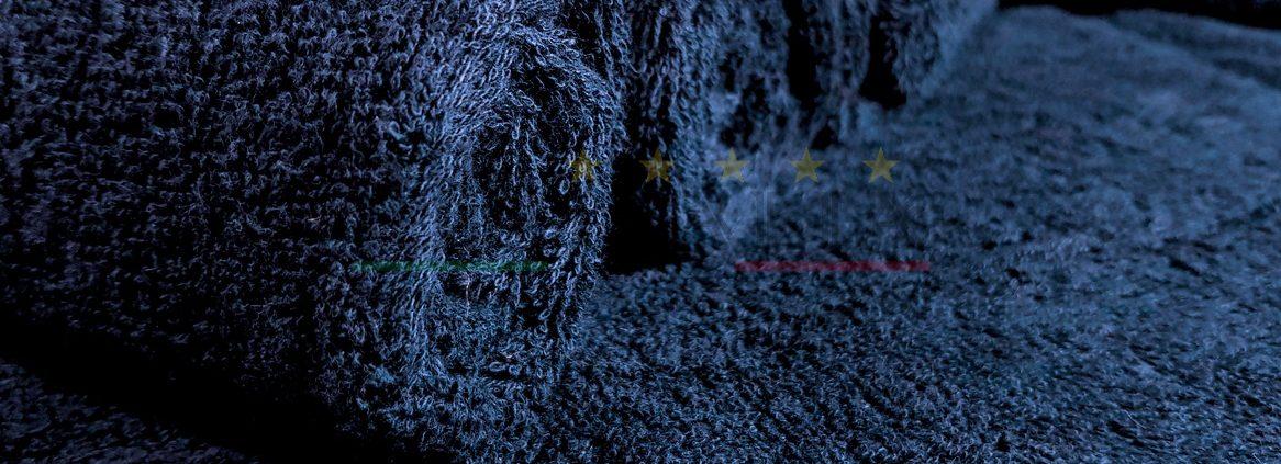 Vendita Asciugamano Blu Notte Ospite Spugna Centri Estetici Massaggi Benessere