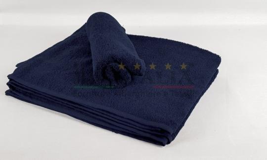 Vendita Asciugamano Ospite Spugna Blu Notte Centri Estetici Massaggi Benessere