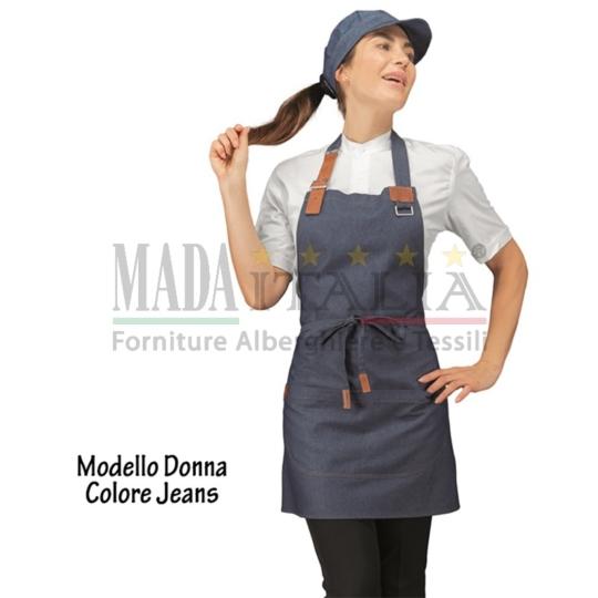 Vendita Grembiule Pettorina Bretella Regolabile Donna Jeans